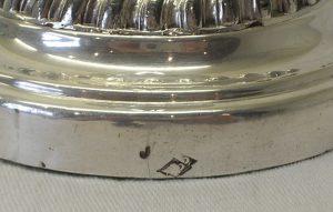 GEORGIAN SILVER PLATED CANDLESTICK
