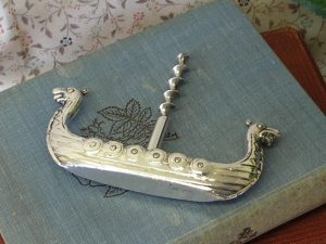 Vintage silver plated corkscrew - Viking Longship corkscrew - Scandinavian ØSP 40 silver plate corkscrew