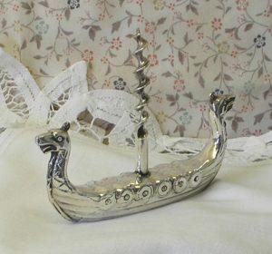 Vintage silver plated corkscrew - Viking Longship corkscrew - Scandinavian ØSP 40 silver plate corkscrew