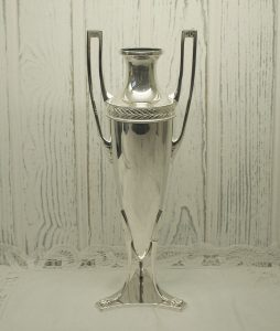 Art Nouveau WMF silver plated bud vase - Württembergische Mettallwarenfabrik silver plate bullet vase, circa 1900