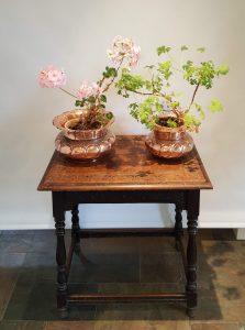 Benham & Froud copper jardinieres, antique pair planters, 19th Century indoor plant pots, Victorian copper jardinieres, small and large