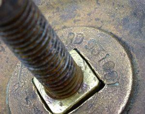 Vintage brass door pull, large round beaded brass centre door knob, central door pull. Brass front door furniture, salvaged reclaimed handle