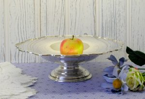 Victorian silver plated tazza by Martin Hall & Co, Sheffield - 19th century silver plated fruit bowl - antique serving dish - footed bowl