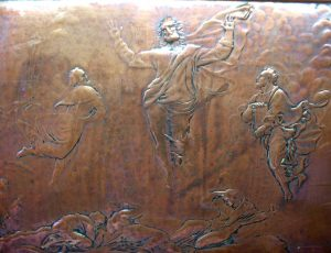 Victorian copper relief plaque by John Henning 1836, After Raphael - copper panel of Raphael's Transfiguration painting - Jesus Christ