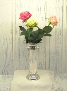 Silver plated vase by Kemp Brothers of Bristol - bud vase