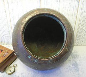 Antique Indian copper Lota - Hindu Puja Lota, Hindu Lota kalash, Chambu Lota, 19th century Indian copper water vessel - Hindu offering lota