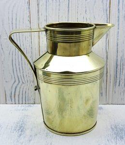Victorian brass jug by John Marston, Christopher Dresser design. 19th century brass pitcher, antique ewer, vase, wine ewer, beer pitcher