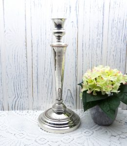 Victorian silver plated candlestick, Georgian style 19th century candlestick holder, silver plate candle holder.
