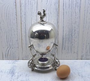 Victorian silver plated egg coddler by Elkington & Co, dated 1873