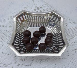 Silver plated trinket dish by Clift Alexander Mawer Clark, early 20th century pierced pin dish, nut bowl, octagonal dish, bonbon dish