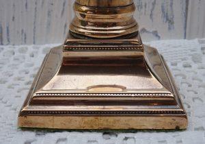 Georgian copper candlestick - 18th century square plinth candlestick holder - antique candle holder, George III candlestick - faded grandeur