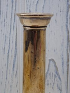 Georgian copper candlestick - 18th century square plinth candlestick holder - antique candle holder, George III candlestick - faded grandeur