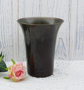 Vintage Just Andersen bronze vase ~ Danish bronze vase ~ 1930's vase ~ Scandinavian decor ~ Scandi style