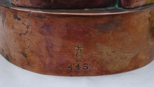Benham and Froud copper jelly mould, design 448 ~ Victorian round jelly mould ~ collectable Kitchenalia ~ blancmange mould ~ antique copper