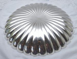 Art Deco silver plated bowl, Elkington & Co, silver plate fluted serving dish, fruit bowl, early 20th century dish, 1920's dining room decor