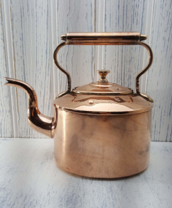 Victorian copper kettle by Benham and Froud for Harrods Ltd - antique copper kettle - kitchenalia - shepherd's hut decor - Gypsy kettle
