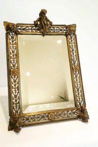Antique ormolu mirror