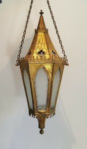 Antique Gothic Gilt Lantern