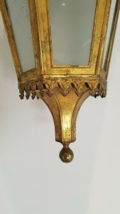 Antique Gothic Gilt Lantern