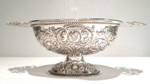 Victorian solid silver Rococo bonbon dish - William Stocker London 1877