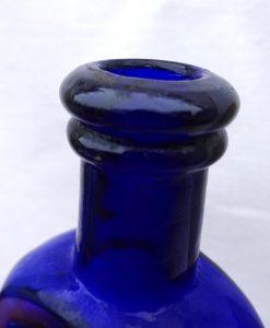 Antique cobalt bottle, Dr. Rooke's Rheumatic Lixile, quack cure. Pharmacy bottle, medicine, cobalt chemist bottle. Victorian pharmaceutical