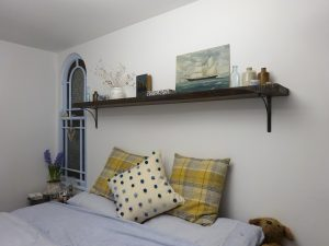 Cornish cottage bedroom decorated by Guy Funnell, interior design by Amanda Hawkins