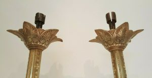Victorian Church brass candlesticks