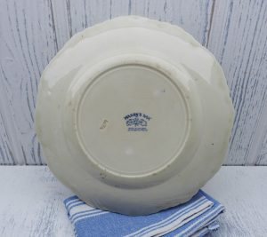 Antique Mason's Oak creamware plate ~ early Victorian Mason's blue transfer ware vista patent ironstone plate. Embossed oak leaves & acorns
