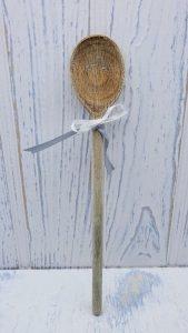 Vintage wooden spoon, small wood spoon, mixing spoon, kitchen utensil, kitchenalia, cooking utensil, baking, kitchen decor, farmhouse style
