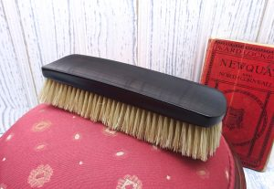 Victorian ebony clothes brush, natural bristles. Vanity brush, laundry brush, clothing brush, utility room, film theatre prop, pet brush