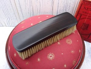 Victorian ebony clothes brush, natural bristles. Vanity brush, laundry brush, clothing brush, utility room, film theatre prop, pet brush