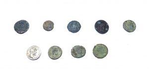 Roman Coins ~ 9 Roman coins Constantine II, Valerian II, Valentinian I