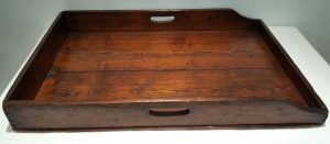 19th Century campaign style butler's tray, antique folding table, country house decor
