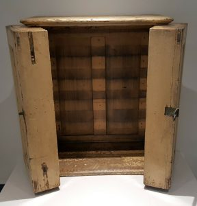 Antique painted pine cabinet formerly an Edmonson railway ticket cabinet for GWR ~ Great Western Railway ticket cupboard ~ old railwayana