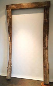 Elizabethan carved oak doorframe