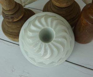Vintage French porcelain Gugelhupf Bundt mould.