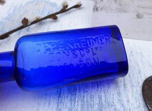 Cobalt Blue Medicine Bottle ~ Oppenheimer Son & Co Ltd