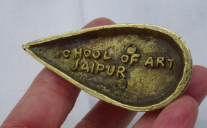 Antique rare brass wallaby by The School of Art Jaipur India.