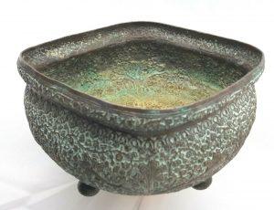 Antique Kashmiri Indian copper jardiniere