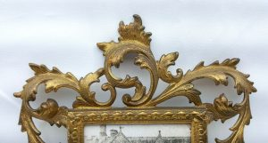 Vintage French gilt metal photo frame, decorative rococo picture frame