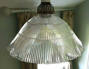 Antique Holophane light shade
