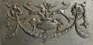Victorian cast iron plaque / panel, decorative Adam style panel