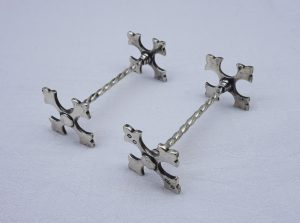 Victorian silver plated knife rests by Elkington & Co, c 1887