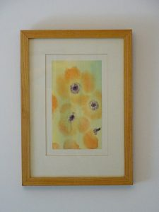 Watercolour painting 'ICED POPPIES' ~ original art by artist Amanda Hawkins