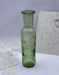Antique German bottle, Crown Essence, herbal medical tincture, Die Keisserliche Privilegirt Altonatiche W. Kronessents, miracle cure bottle
