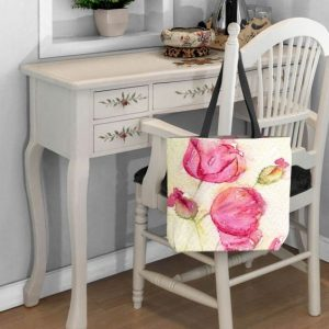 Pretty Poppies Tote Bag by Amanda Hawkins at DiaNoche Designs