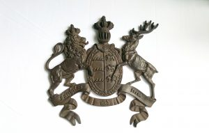 Large Wurttemberg coat of arms heraldic plaque
