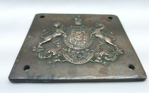 Antique George IV bronze royal coat of arms