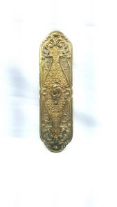 Antique Victorian ormolu gilt brass finger plate James Cartland & Son Birmingham.