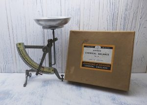 Vintage Johnson Chemical Balance No 18, chemistry scales, Johnsons of Hendon, London